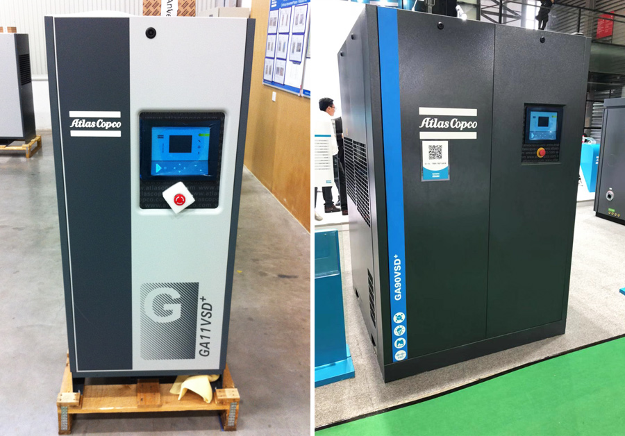 Oil-lubricated screw compressors GA (VSD+)